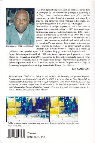 4eme Histoire du Togo (Tome 5)