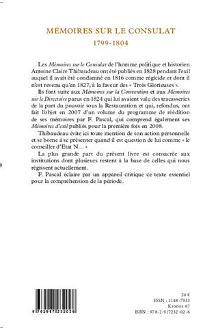 4eme Mémoires sur le Consulat (1799-1804)