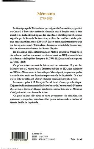 4eme Mémoires 1799-1815