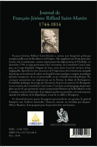 4eme Journal de François-Jérôme Riffard Saint-Martin