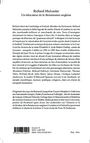 4eme Richard Mulcaster c. 1531-1611