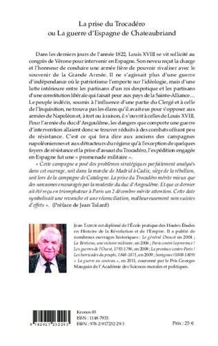 4eme La prise du Trocadéro ou La guerre d'Espagne de Chateaubriand