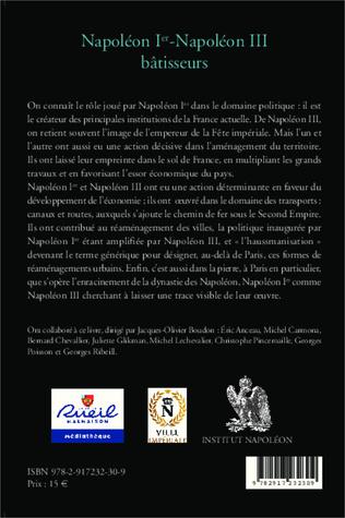 4eme Napoléon Ier - Napoléon III bâtisseurs