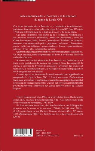 4eme Actes imprimés des