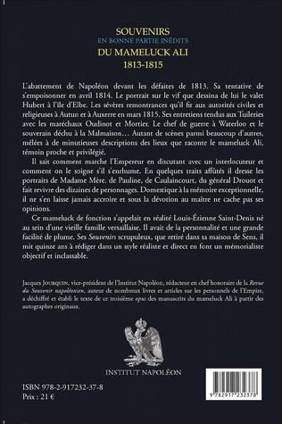 4eme Souvenirs du mameluck Ali (1813-1815)