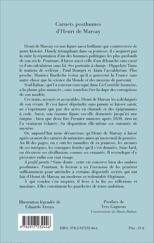 4eme Carnets posthumes d'Henri de Marsay