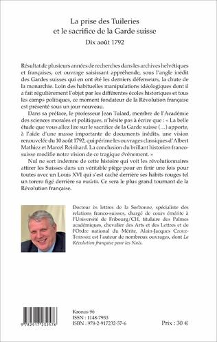 4eme La prise des Tuileries et le sacrifice de la Garde suisse