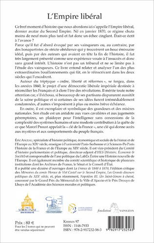 4eme L'Empire libéral (2 vol)