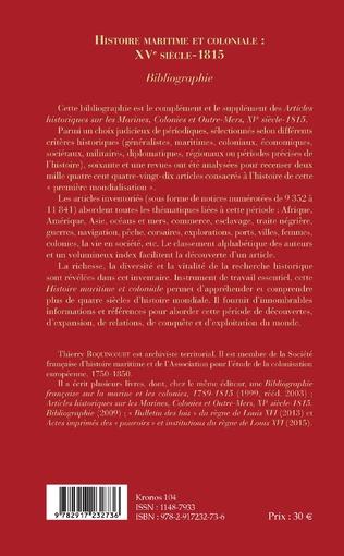 4eme Histoire maritime et coloniale : XVe siècle - 1815