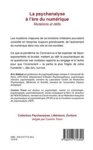 4eme La psychanalyse à l'ère du numérique