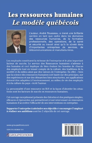 4eme Les ressources humaines, le modèle québécois. Volume 1