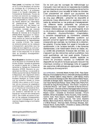4eme Méthodes en acte dans l'analyse des pratiques d'enseignement : approches internationales - Tome 1