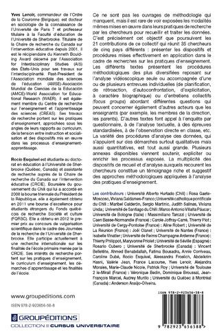 4eme Méthodes en acte dans l'analyse des pratiques d'enseignement: approches internationales - Tome 2