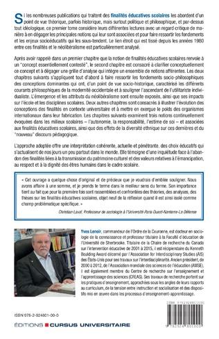 4eme Les finalités éducatives scolaires. Une étude critique des approches théoriques, philosophiques et idéologiques. Tome 1.