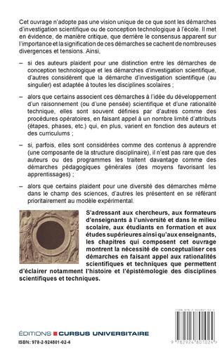 4eme Les démarches d'investigation scientifique et de conception technologique