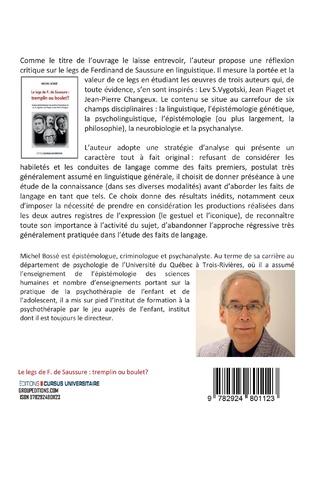 4eme Le legs de F. de Saussure: tremplin ou boulet ?