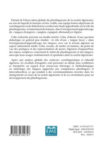 4eme Plurilinguisme et enseignement des langues en Algérie