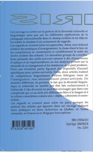 4eme Langue scolaire, diversité linguistique et interculturalité
