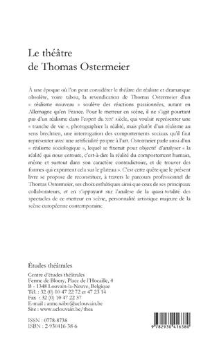 4eme Le Théâtre de Thomas Ostermeier