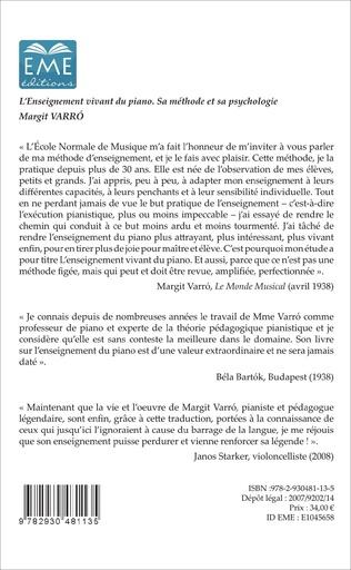 4eme L'enseignement vivant du piano (4e édition)