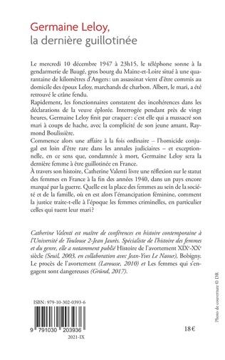 4eme Germaine Leloy, la dernière guillotinée