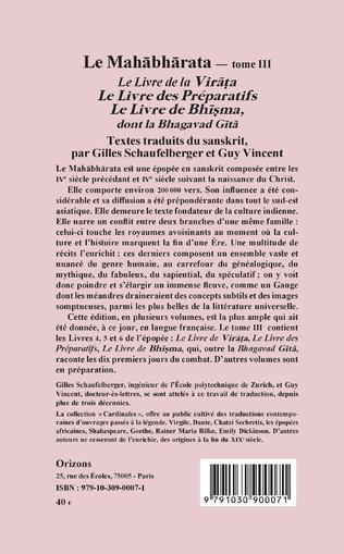 4eme Le Mahabharata - Tome III