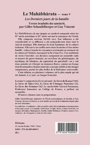4eme Le Mahabharata - Tome V