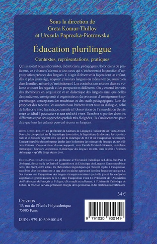 4eme Education plurilingue
