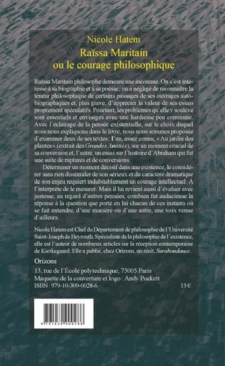 4eme Raissa Maritain ou le courage philosophique