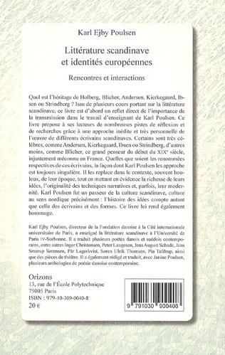 4eme Littérature scandinave et identités européennes