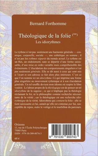 4eme Théologique de la folie (Tome 2)