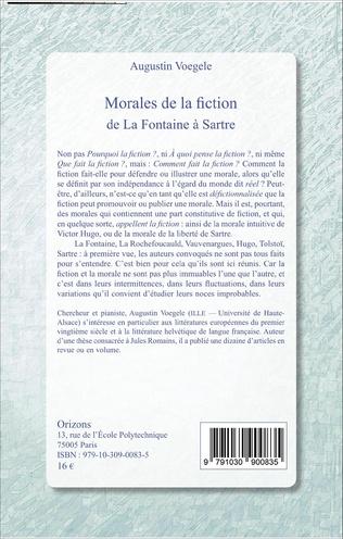 4eme Morales de la fiction de La Fontaine à Sartre