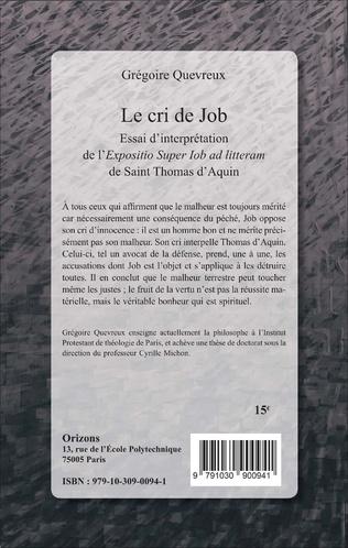 4eme Le cri de Job