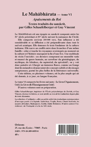 4eme Le Mahabharata - Tome VI