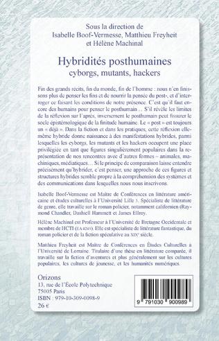 4eme Hybridités posthumaines