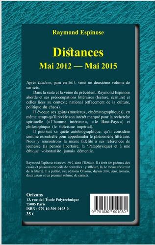4eme Distances Mai 2012 - Mai 2015