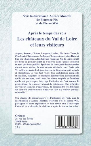 4eme Les châteaux du Val de Loire et leurs visiteurs