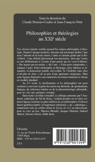 4eme Philosophies et théologies au XXIe siècle