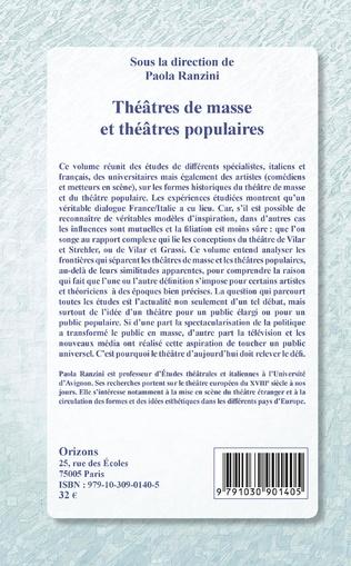 4eme Théâtres de masse et théâtres populaires