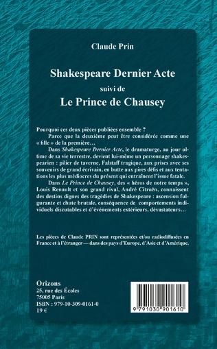 4eme Shakespeare Dernier acte