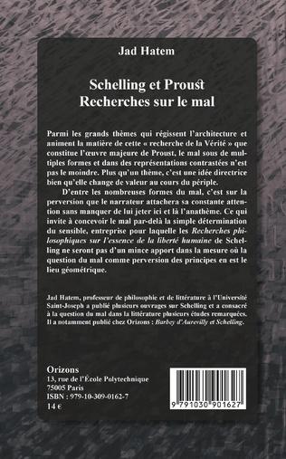 4eme Schelling et Proust