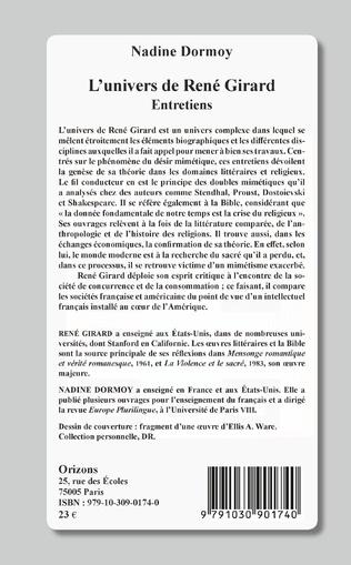 4eme L'univers de René Girard
