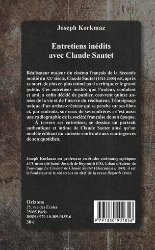 4eme Entretiens inédits avec Claude Sautet