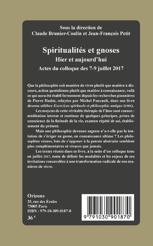 4eme Spiritualités et gnoses