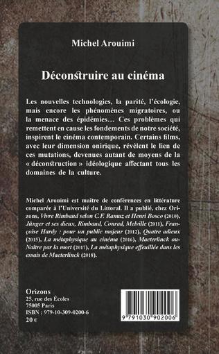 4eme Déconstruire au cinéma