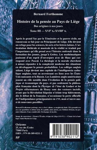 4eme Histoire de la pensée au Pays de Liège