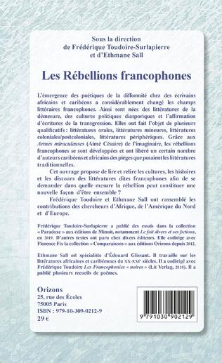 4eme Les Rébellions francophones