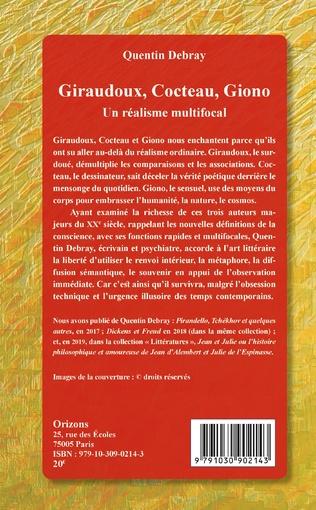4eme Giraudoux, Cocteau, Giono