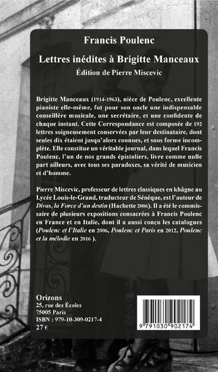 4eme Lettres inédites à Brigitte Manceaux