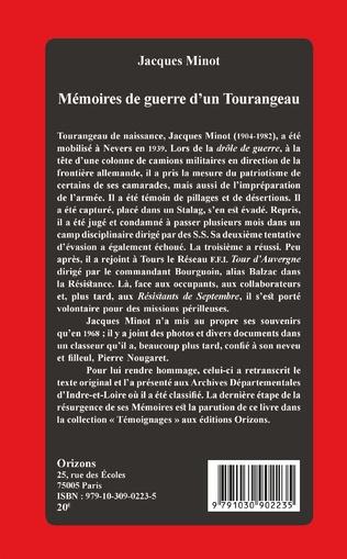 4eme Mémoires de guerre d'un Tourangeau